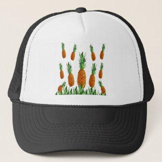 pineapple print polygonal pattern trucker hat