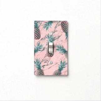 Pineapple Rose Blush Pink Marble Swirl Modern Light Switch Cover