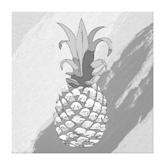 Pineapple Shadow Black and White ID239 Canvas Print