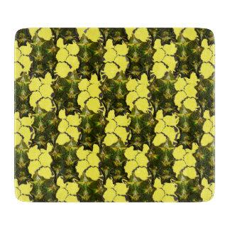 Pineapple Skin + Textured Yellow Chequered Cutting Board