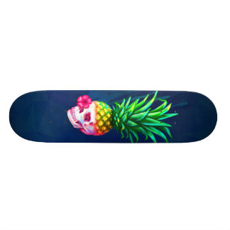 Pineapple Skull Board Skateboard Deck