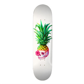 Pineapple Skull Board white Skateboard Deck