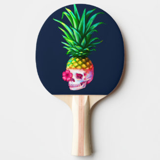 Pineapple Skull Ping Pong Paddle