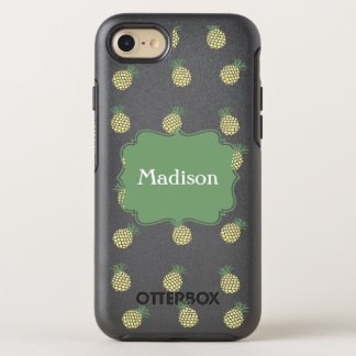 Pineapple Stamp Pattern OtterBox Symmetry iPhone 7 Case