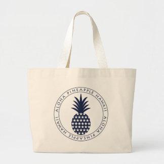 Pineapple (star) 022 large tote bag