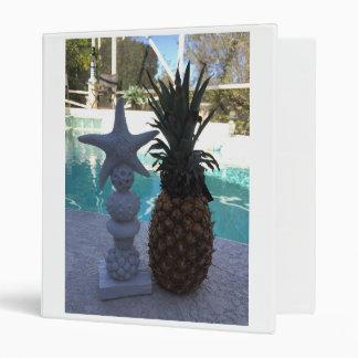 Pineapple Starfish Vinyl Binders