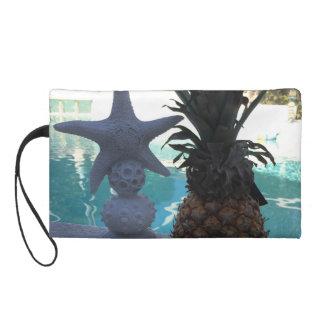 Pineapple Starfish Wristlet