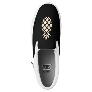 Pineapple Stencil Slip-On Sneakers