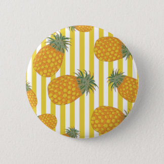 Pineapple Stripes 2 Inch Round Button