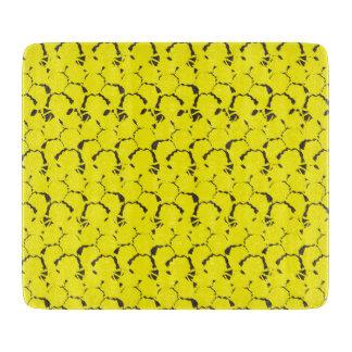 Pineapple Textured Yellow Cutting Board
