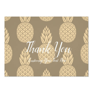Pineapple Thank You Gold Card