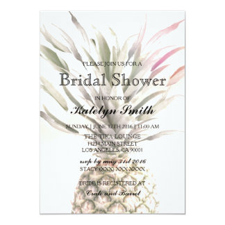 Pineapple Theme Bridal Shower Invitation
