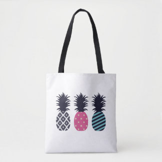 Pineapple triple Love Tote Bag