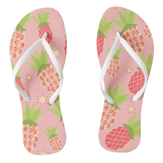 Pineapple tropic flip flops