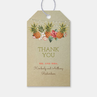 pineapple tropical beach wedding gift tags