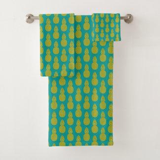Pineapple Tropical Fruit Bath Towel Set