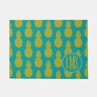 Pineapple Tropical Fruit   Monogram Doormat