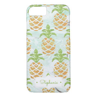 Pineapple Tropical Fruit Monogram | Personalized iPhone 7 Case