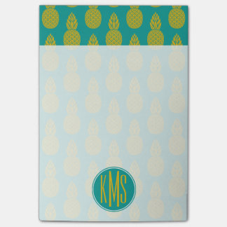 Pineapple Tropical Fruit | Monogram Post-it® Notes
