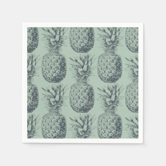 Pineapple, tropical fruit pattern design paper napkins