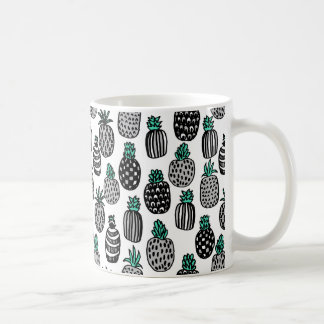 Pineapple - Tropical Fruit Summer / Andrea Lauren Coffee Mug