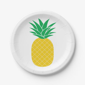 Pineapple Tropical Paper Plate