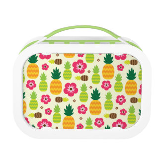 Pineapple Tropical Summer Seamless Pattern Lunch Box