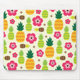Pineapple Tropical Summer Seamless Pattern Mouse Pad