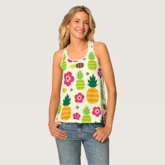Pineapple Tropical Summer Seamless Pattern Tank Top