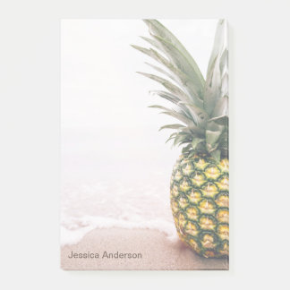 Pineapple Tropical with Name Post-it Notes