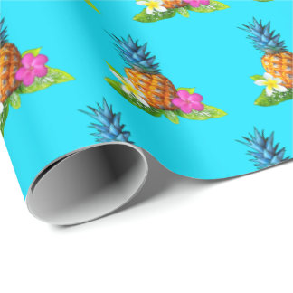 Pineapple Tropical Wrapping Paper for Any Occasion