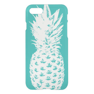 Pineapple turquoise transparent clear see through iPhone 8/7 case