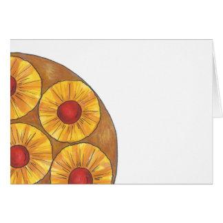 Pineapple Upside Down Cake Dessert Foodie Card