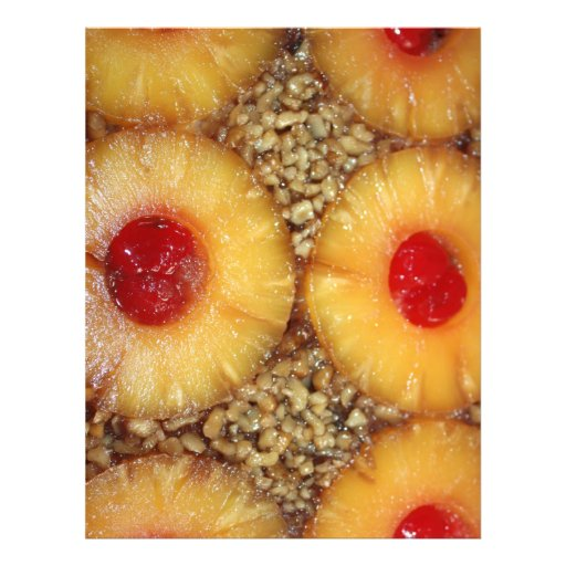 Pineapple Upside Down Cake Personalized Flyer