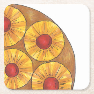 Pineapple Upside Down Cake Foodie Kitchen Coasters