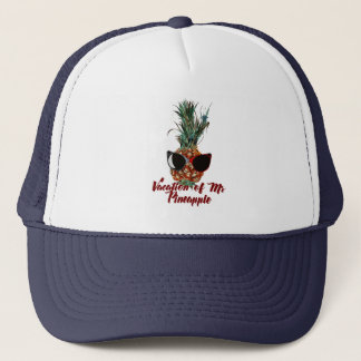 Pineapple vacations. Humor print Trucker Hat