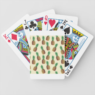 Pineapple Wallpaper Pattern Bicycle Playing Cards
