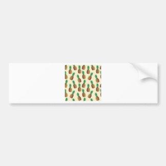 Pineapple Wallpaper Pattern Bumper Sticker