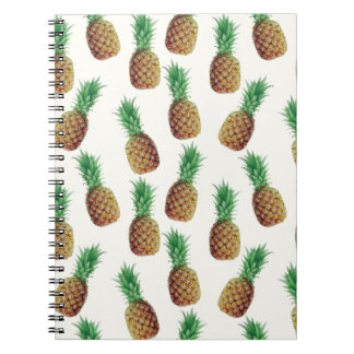 Pineapple Wallpaper Pattern Spiral Notebook