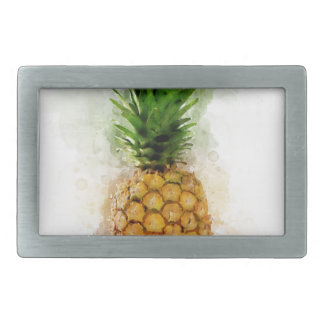 Pineapple Watercolor Belt Buckles