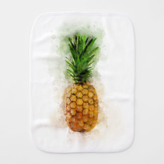 Pineapple Watercolor Burp Cloth