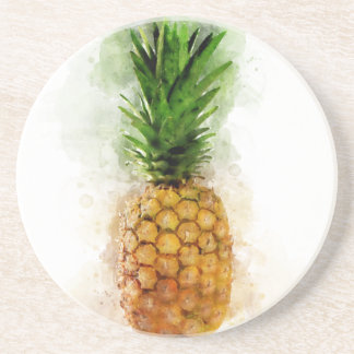 Pineapple Watercolor Coaster