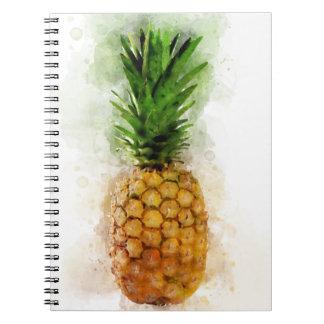 Pineapple Watercolor Notebook