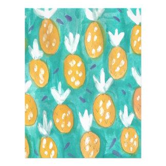 Pineapple Watercolor Print Letterhead Design