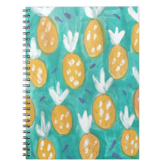 Pineapple Watercolor Print Spiral Note Books