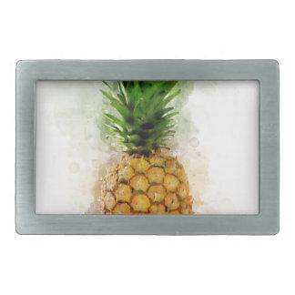 Pineapple Watercolor Rectangular Belt Buckle