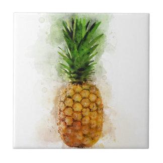 Pineapple Watercolor Tile