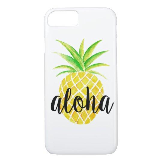 Pineapple Watercolor Tropical Aloha iPhone 7 Case