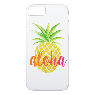 Pineapple Watercolor Tropical Aloha Pink Case-Mate iPhone Case
