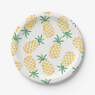 Pineapple watercolour party plate